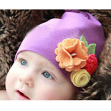 Flowers Beanie Elastic Hat Cap For 1-6 Years Old Unisex Baby Kids Toddler