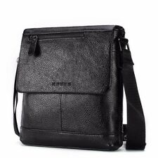 Mens Shoulder Bag Genuine Leather Messenger Bags Crossbody Business Soft Handbag