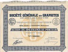 Action Société générale des Graphites 1931 (009966)