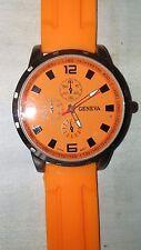Unisex Men's Sports Watch Jewelry Fashion Accessory Quartz Time Orange