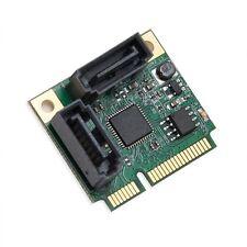 IO Crest Mini PCI-Express Half Size 2 Port SATA III RAID Controller SI-MPE40095