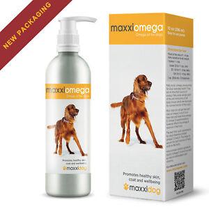 MaxxiOmega Oil for Dogs for Healthy Skin & Shiny Coat - No Fishy Smell - 296 ml