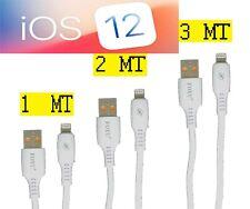 ✅ CAVO DATI LUNGO 1 2 3 MT METRI X IPHONE 12 11 9 8 7 IPAD LIGHTENING RICARICA
