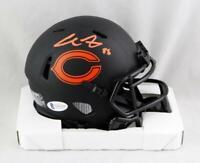 Cole Kmet Signed Chicago Bears Eclipse Speed Mini Helmet- Beckett W Auth *Orange