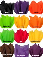 "HALLOWEEN Colors Tissue Paper Sheets 15"" x 20"" Choose Color and Pack Amount"