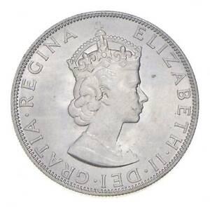 Choice BU Unc 1964 Bermuda 1 Crown Silver Coin - Mint State *801