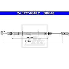 ATE Seilzug Feststellbremse CITROËN C8 (EA EB)  FIAT ULYSSE (179AX)  LANCIA PHE