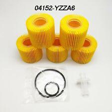 04152-YZZA6 For Toyota OEM Oil Filter Prius Prius V Corolla Scion IM XD Set Of 5