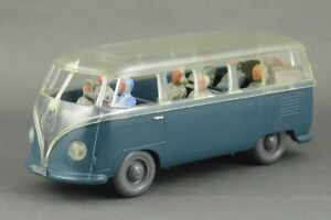 "Vintage 1955 Wiking Vw Volkswagen ""Glass"" Bus 1/40 Promo Complete Super Example"
