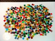 500 Stained Glass Mosaic Tiles Assorted colors 5/8 squares