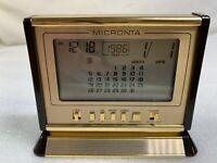 Vintage Micronta 63-761 Travel Mini Small Desk Alarm Clock 70s or 80s Digital