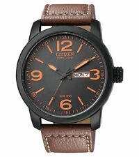 Citizen Men's BM8475-26E Eco-Drive Stainless Steel and Synthetic Leather Strap Watch