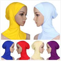 Muslim Lady Inner Hijab Caps Ramadan Cotton Scarf Shawl Islamic Underscarf Hats
