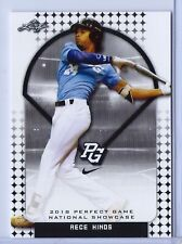 """RECE HINDS 2018 LEAF PERFECT GAME """"Black"""" PARALLEL ROOKIE CARD! LTD 25!"""