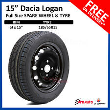 "DACIA Logan 2013-2017 FULL SIZE STEEL SPARE WHEEL 15""  AND TYRE  185/65R15"