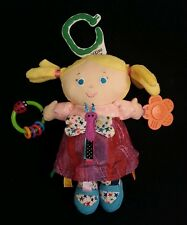 Eric Carle Blond Baby Doll Rattle Pigtails Kids Preffered 96757 Crinkle Clips