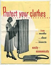 """1953 ELECTROLUX Sales Brochure: """"Protect Your Clothes From Moths, Dust, Insects"""""""