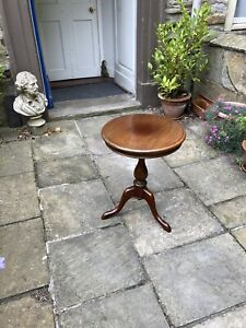 Edwardian mahogany circular tripod occasional table
