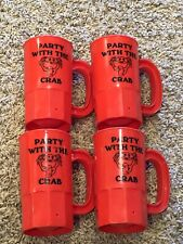 Party With The Crab Plastic Mugs Set Of 4