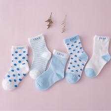 Lot 5 Pairs Infant Baby Toddler BOY Socks Cotton 0~5Y Girl Cartoon NewBorn Kids