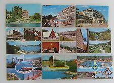 Ex-Jugoslawien Postkarten Sammlung 9x AK mit Hotel Autocamp Jugoslavija Marken