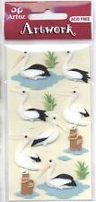 Stickers 3D Auto-collant Oiseau Cigogne Stork