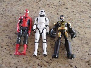 """Spiderman Stormtrooper Batman 12"""" Action Figures"""