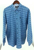 Panhandle Slim Mens Large Blue Long Sleeve Western Cowboy Button Front O-70
