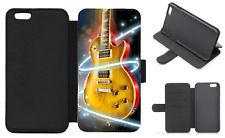 Guitar Art Wallet Flip Phone Case iPhone and Galaxy compatible (A)
