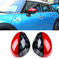 Union Jack Red Side Wing Mirror Cover Caps For Bmw Mini Cooper JCW F56 F55 F04