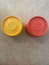 Vintage Tupperware 6 oz Kids Juice Cups Tumblers Colorful Set of 2