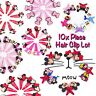 HairPins Girls Kids Baby Cartoon Character Mickey Minnie Mouse Hair Clips 10 PCS