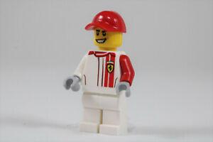 LEGO® City Minifigure Ferrari Driver White Legs & Red Cap