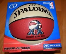 Official Spalding ABA Game Ball Premium Composite Leather Basketball Red,White,B