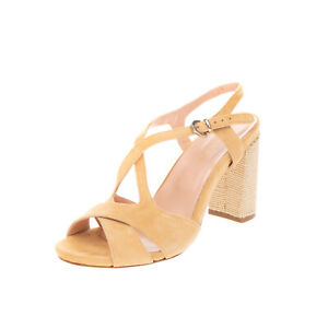 RRP €130 SABINA ALBANO Leather Slingback Sandals EU 40 UK 7 US 10 Made in Italy