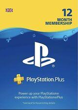 PlayStation PLUS PSN 12 Months Membership ✅