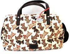 Ladies RADLEY Coated Cotton Cream Dog Printed Bag With Strap Preloved - B93