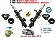 FOR VOLVO S40 2004-2012 2X FRONT SHOCK ABSORBERS + TOP STRUT MOUNTING + BEARING