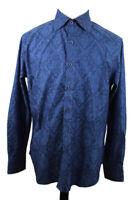 🔴 Robert Graham Floral Shirt Blue Size Large Long Sleeve Excellent Cond.