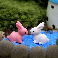 4 pcs Miniature Garden Rabbits Fairy Garden Animal Ornament Terrarium Supplies