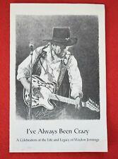 Rare WAYLON JENNINGS Original 2002 FUNERAL MEMORIAL Program OUTLAW COUNTRY MUSIC