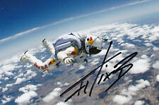 Felix Baumgartner Signed 4x6 Photo Red Bull Stratos Space Jump Red Bull