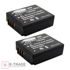 2pcs  Battery PACK CGA-S007 for Panasonic 3.7V 1300mAh Lumix DMC-TZ3 CGA-S007E