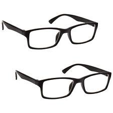 d2de29febb4a The Reading Glasses Company Black Readers Value 2 Pack DESIGNER Style Mens  2.50