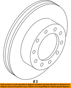 FORD OEM 13-16 F-350 Super Duty Front Brake-Disc Rotor DC3Z1125A