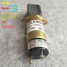 1502-12A7U1B 12V Shut Off Solenoid 129470-67320 12V for 3, 4 & 6 Cylinder Yanmar