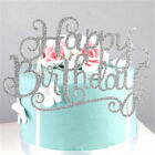 Gold Silver Cake Topper Happy Birthday Party Supplies Decorations celebrate