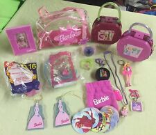 Huge Lot Of Little Girls Barbie Jewelry, Keychains, Small Toys, Etc.