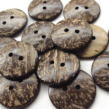 20x New Natural Coconut Button 2 Hole 38mm