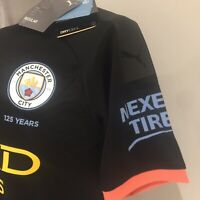 Puma NWT Manchester City Football Club Med Jersey Peach Yellow Black Soccer